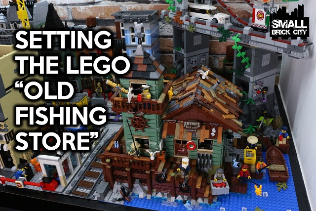 Setting the lego old fishing store 21310 in a lego city for Lego ideas old fishing store