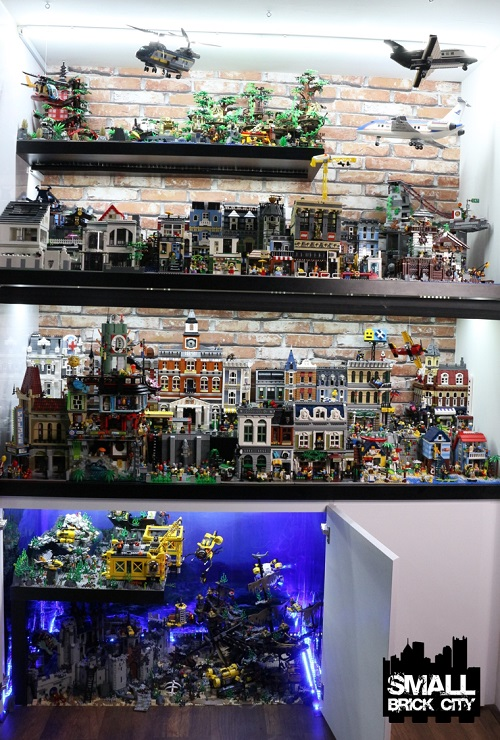 Overview Of A Custom Lego City Small Brick City