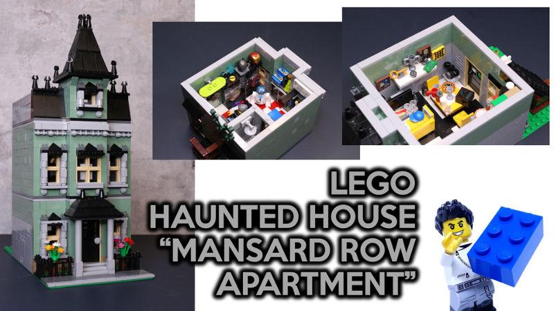 Custom lego haunted house 10228 apartment by small brick city for Lego house original